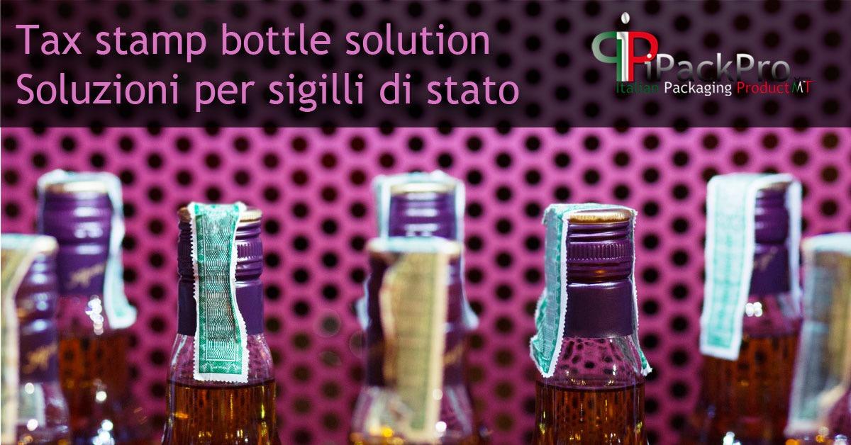 Tax stamp bottle solution