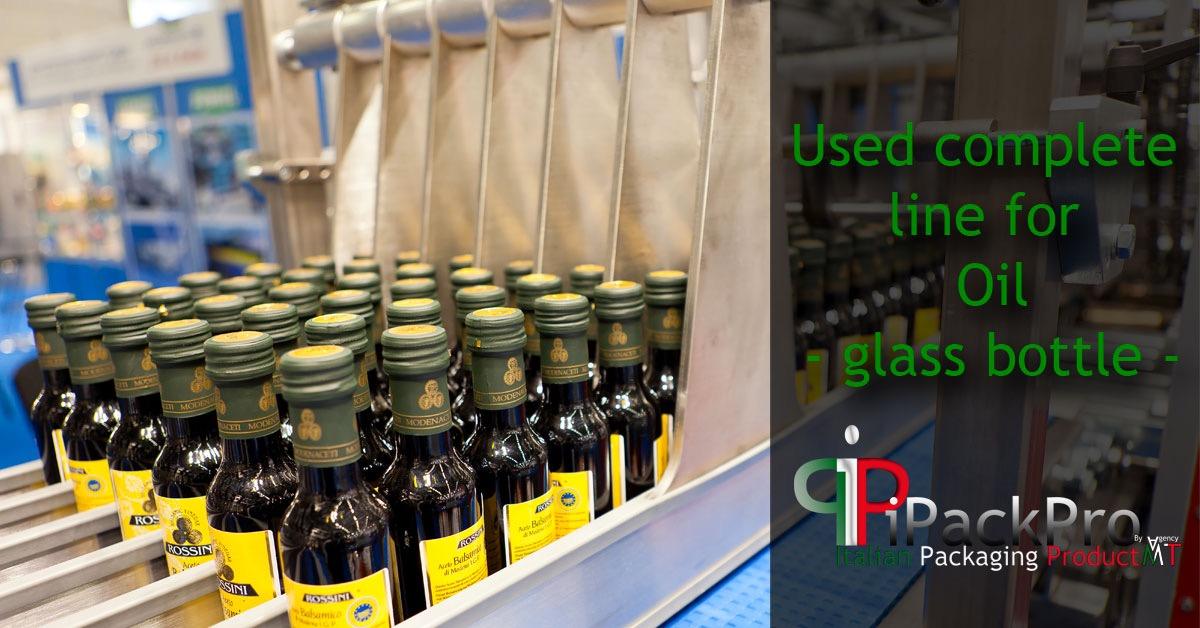 Complete bottling line for glass bottle oil's