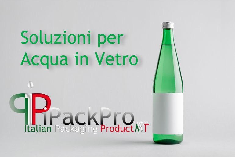 Solutions for bottling water in glass bottles.